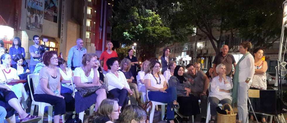 Jewish and Arab women who have lost loved ones in terror attacks and wars meet in center of Tel Aviv ( Women Wage Peace )
