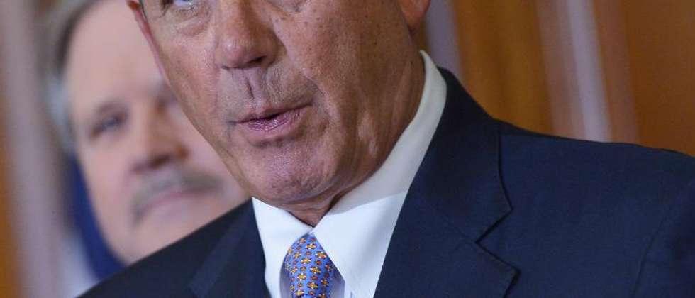 Le président républicain de la Chambre des représentants John Boehner, le 13 février 2015 à Washington ( Mandel Ngan (AFP/Archives) )