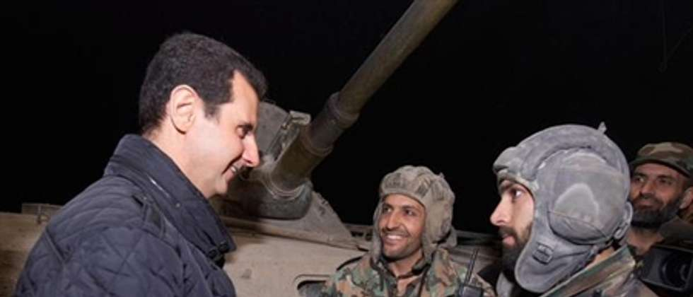 President Bashar al-Assad visits Syrian soldiers, New Year's Eve, 2015