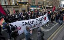 Pegida counter-demo in Newcastle (AFP)