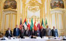 U.S. Secretary of State John Kerry (2nd L) poses for members of the media with foreign ministers of the Gulf Cooperation Council as they meet to discuss Middle East concerns about an emerging nuclear deal with Iran, at the Chief of Mission Residence in Pa (REUTERS/Andrew Harnik/Pool)
