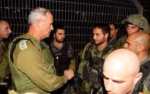 IDF Chief of Staff Benny Gantz arrived at Tapuah Junction after learning of a shooting attack on Border Policeman stationed at the junction June 2, 2014 ( IDF Spokesperson )