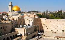 The Western Wall in the old city of Jerusalem (  )