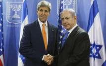 John Kerry et Benjamin Netanyahu le 23 juillet 2014 à Tel Aviv  ( Pool (AFP) )