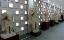 Artefacts coming from Mosul and dating back to the second century B.C are displayed during the official reopening of Iraq's national museum in Baghdad, on February 28, 2015 ( Sabah Arar (AFP) )