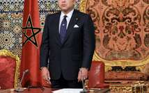 A recent Al-Qaeda video lashes out at Morocco's King Mohammed VI, shown here in Rabat on August 20, 2013 ( Azzouz Boukallouch (AFP/File) )