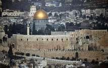 Vue du Dôme du Rocher (g) et de la mosquée d'al-Aqsa, le 21 novembre 2014 à Jérusalem (Thomas Coex (AFP))
