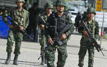 Martial law which was decreed in Thailand shortly before the military seized power in a coup last May (Pornchai Kittiwongsakul (AFP/File))