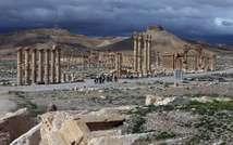 صورة ارشيف بتاريخ 14 آذار/مارس 2014 لقلعة تدمر الاثرية على بعد 215 كلم شمال شرق دمشق (جوزيف عيد (اف ب/ارشيف))