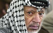 Palestinian leader Yasser Arafat attends Friday prayers in the West Bank city of Ramallah on June 7, 2002 ( Thomas Coex (AFP/File) )