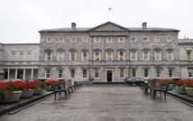 Leinster House which houses the Seanad chamber, or upper house of the Irish parliament, is pictured in Dublin on October 2, 2013 (Peter Muhly (AFP/File))