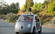This image provided by Google on May 28, 2014, shows a self-driving two-seat prototype vehicle that has no steering wheel (Google/AFP)