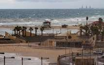In this file photo, stormy sea is seen near the Israeli Mediterranean coastal town of Netanya, north of Tel Aviv, on December 11, 2013 ( Jack Guez (AFP/File) )