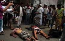 Yemen crisis: Huthi rebels' bodies (TAHA SALEH (AFP))