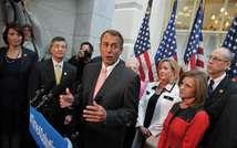Le président républicain de la Chambre des représentants John Boehner le 10 octobre 2013 à Wasshington  ( Mandel Ngan (AFP) )