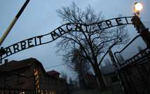This file photo taken on December 4, 2008 shows the entrance to Auschwitz ( Valery Hache (AFP/File) )