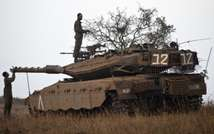 Israeli Army near the border with Syria in 2013 ( AFP )
