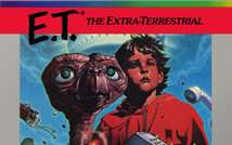 E.T - the Extra Terrestrial - the video game box art ( Atari )