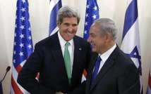 Secretary of State John Kerry and Israeli PM Benjamin Netanyahu in Jerusalem, Sept. 2013 ( AFP/Larry Downing )