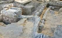 10th-11th century fountain in Ramle ( Assaf Peretz, Israel Antitiquities Authority )