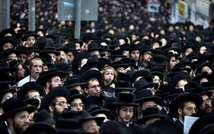 Ultra-Orthodox Jews in Jerusalem on June 25, 2012, at a protest against lifting the law that exempts ultra-Orthodox yeshiva students from mandatory military service (AFP)