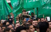 Many children took part in Hamas' rally (AFP/Mahmud Hams)