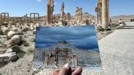 credits/photos : Palmyra's Arc of Triumph, in a picture taken on March 2014, and on March 31, 2016