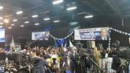 credits/photos : Air of celebration at Likud HQ following exit polls results