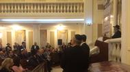 credits/photos : The Jewish synagogue in Astana, the capital of Kazakhstan, on December 14, 2016