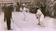 credits/photos : Fencer Attila Petschauer competes in Amsterdam, 1928