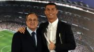 credits/photos : Under president Florentino Perez (L) Real Madrid has one of the world's most expensive squads, including leading goalscorer Cristiano Ronaldo (R)