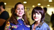 ائتمانات/صور : Les créatrices Suzan Farhoud (g) et Leen Shieshakly, le 8 octobre 2016 à l'Arab Fashion Week de Dubaï