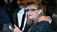 credits/photos : The American actress Carrie Fisher and the director Fisher Stevens May 14, 2016 in Cannes