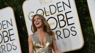 crédits/photos : L'actrice Felicity Huffman sur ke tapis rouge des Golden Globes, le 8 janvier 2017