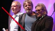 credits/photos : Actors Harrison Ford, Mark Hamill and Carrie Fisher in San Diego, California, July 10, 2015