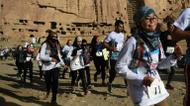 credits/photos : More than 100 runners in total, both Afghan and foreigner, participated in the Bamiyan marathon
