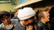 crédits/photos : Des partisans de l'ayatollah Rafsandjani lors d'une cérémonie peu après le décès de l'ex-président iranien, le 8 janvier 2017 à Téhéran