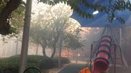 credits/photos : Flames and smoke at a children's playground in Zichron Ya'akov on November 22, 2016