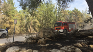 credits/photos : Firefighters work to get a forest fire near the village of Neve Shalom under control on November 22, 2016