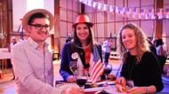 credits/photos : People attend the US Embassy election party in Tel Aviv on November 8, 2016