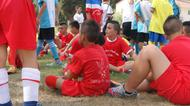 credits/photos : The participants at the Soccer for Peace summer camp were split into different teams, all representing different countries in the world