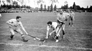 """credits/photos : """"A field hockey game during the international """"Bar-Kochba"""" sports games with the participation of the team """"Hakoach Vienna"""". The games were held in Grunewald, Berlin, Germany 1937"""""""