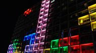 crédits/photos : Tetris blocks on the Tel Aviv municipality building