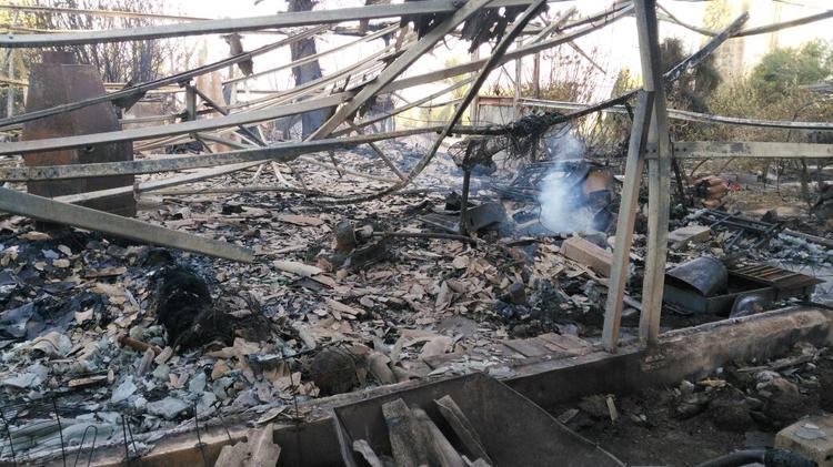 Fire damage in the community of Beit Meir, outside of Jerusalem