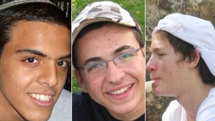 Les 3 adolescents israéliens assassinés en Cisjordanie en juin 2014 Eyal Yifrah (19 ans), Naftali Frankel (16 ans) et Gilad Shaar (16 ans)