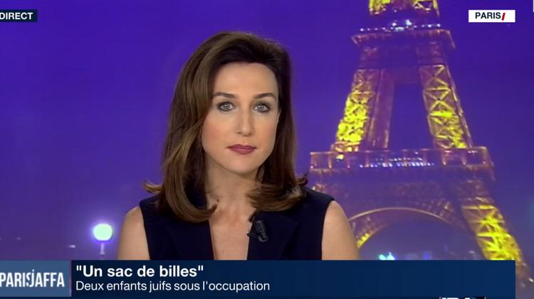 L'actrice Elsa Zylberstein dans l'émission Paris/Jaffa présenté par Paul Amar, le 11 janvier 2017