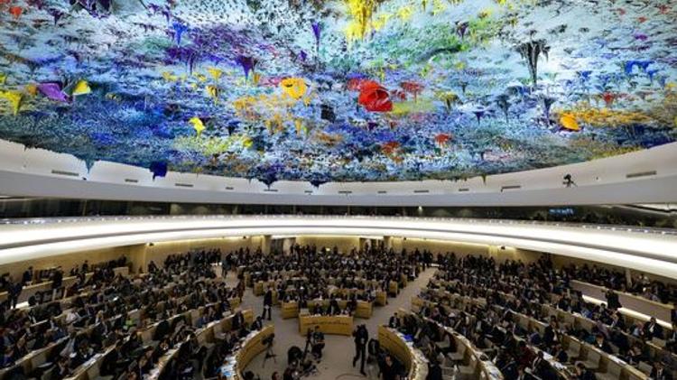Le conseil des droits de l'homme des Nations unies, le 25 février à Genève.