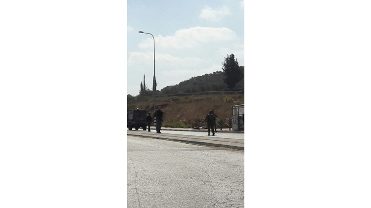 Tapuach Junction after attempted stabbing attack on October 19, 2016