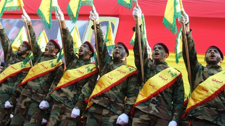 Membres de la milice terroriste chiite libanaise Hezbollah