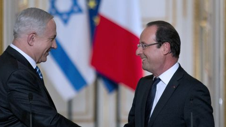 Benyamin Nétanyahou et François Hollande à l'Elysée, le 31 octobre 2012